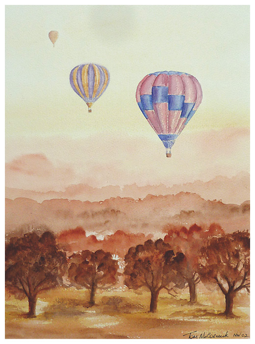 Safari Balloons :: Watercolour 31mm x 41mm