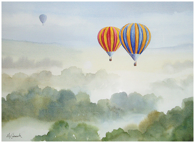 Balloon Rise :: Early morning balloon ascent